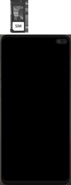 Samsung Galaxy S10 Plus - Appareil - comment insérer une carte SIM - Étape 4