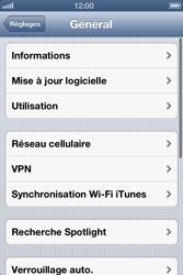 Apple iPhone 4 - iOS 6 - Internet - activer ou désactiver - Étape 4