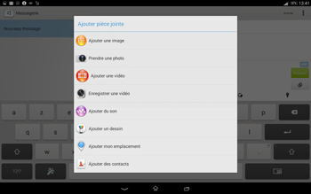 Sony Xperia Tablet Z2 (SGP521) - MMS - envoi d'images - Étape 14