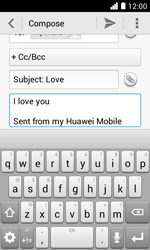 Huawei Ascend Y330 - E-mail - Sending emails - Step 10