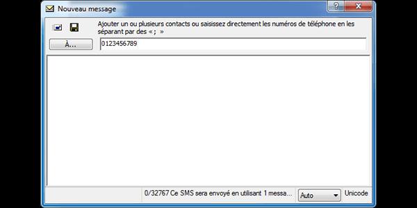 Alcatel OT-X500D - Contact, Appels, SMS/MMS - Envoyer un SMS - Étape 6