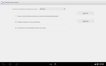 Sony Xperia Tablet Z - E-mail - Configurar correo electrónico - Paso 18