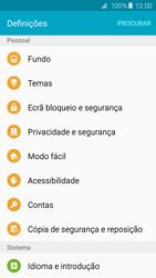 Samsung Galaxy S6 Edge - Repor definições - Como repor definições de fábrica do telemóvel -  5
