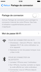 Apple iPhone 5c (iOS 8) - Internet et connexion - Partager votre connexion en Wi-Fi - Étape 5