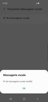 Samsung Galaxy S10e - Messagerie vocale - configuration manuelle - Étape 14