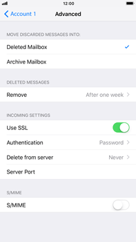 Apple iPhone 8 Plus - E-mail - Manual configuration POP3 with SMTP verification - Step 23