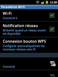 Samsung S5300 Galaxy Pocket - Wifi - configuration manuelle - Étape 8