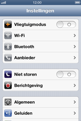 Apple iPhone 4S met iOS 6 (Model A1387) - Instellingen aanpassen - Fabrieksinstellingen terugzetten - Stap 3
