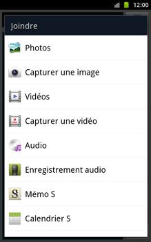 Samsung N7000 Galaxy Note - Mms - Envoi d
