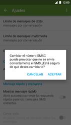 BQ Aquaris U - Mensajería - Configurar el equipo para mensajes de texto - Paso 8