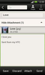 HTC T328e Desire X - E-mail - Sending emails - Step 14