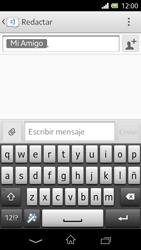 Sony Xperia L - Mensajería - Escribir y enviar un mensaje multimedia - Paso 9