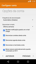 Motorola Moto X - Email - Como configurar seu celular para receber e enviar e-mails - Etapa 9