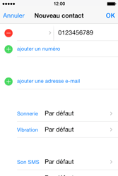Apple iPhone 4 - Contact, Appels, SMS/MMS - Ajouter un contact - Étape 9