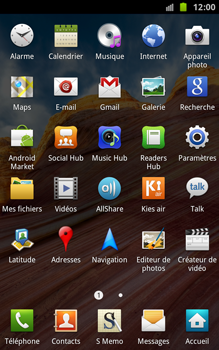 Samsung N7000 Galaxy Note - Messagerie vocale - Configuration manuelle - Étape 3
