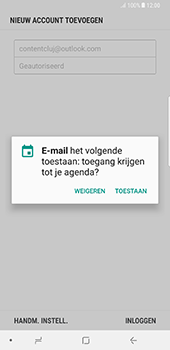 Samsung Galaxy Note 8 - E-mail - Handmatig instellen (outlook) - Stap 11