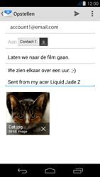 Acer Liquid Jade Z - E-mail - Hoe te versturen - Stap 16
