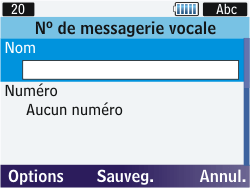 Samsung S3570 Chat 357 - Messagerie vocale - configuration manuelle - Étape 8