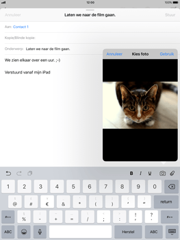 Apple iPad 9.7 (2018) - E-mail - Bericht met attachment versturen - Stap 11