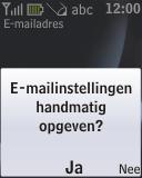 Nokia 2330 classic - E-mail - Handmatig instellen - Stap 13