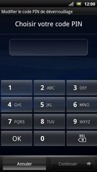 Sony Ericsson Xpéria Arc - Sécuriser votre mobile - Activer le code de verrouillage - Étape 7
