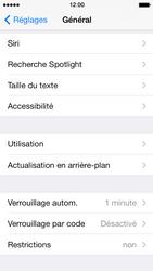 Apple iPhone 5 - Sécuriser votre mobile - Activer le code de verrouillage - Étape 4