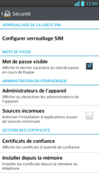 LG Optimus F6 - Sécuriser votre mobile - Personnaliser le code PIN de votre carte SIM - Étape 5
