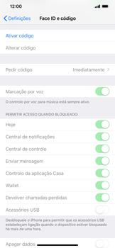 Apple iPhone XR - Segurança - Como ativar o código de bloqueio do ecrã -  4