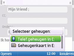Nokia E5-00 - E-mail - hoe te versturen - Stap 10