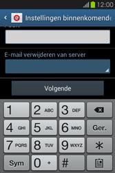 Samsung S6810P Galaxy Fame - E-mail - Handmatig instellen - Stap 11