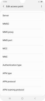 Samsung Galaxy A70 - Internet - Manual configuration - Step 16
