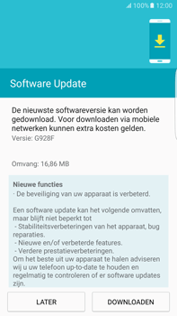Samsung Samsung G928 Galaxy S6 Edge + (Android M) - Toestel - Software update - Stap 8