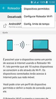 Samsung Galaxy J7 - Wi-Fi - Como usar seu aparelho como um roteador de rede wi-fi - Etapa 7