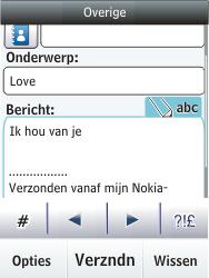 Nokia Asha 203 - E-mail - Hoe te versturen - Stap 12