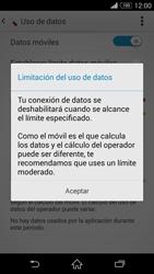 Sony Xperia Z3 - Internet - Ver uso de datos - Paso 9