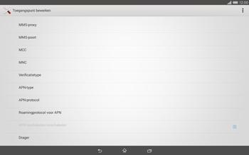 Sony Xperia Tablet Z2 (SGP521) - Internet - handmatig instellen - Stap 12