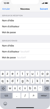 Apple iPhone X - iOS 12 - E-mail - Configuration manuelle - Étape 15