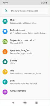 Motorola Moto G7 - Rede móvel - Como ativar e desativar o modo avião no seu aparelho - Etapa 4