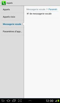 Samsung P3100 Galaxy Tab 2 7-0 - Messagerie vocale - Configuration manuelle - Étape 7