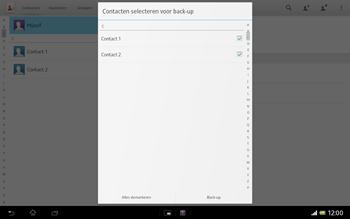 Sony SGP321 Xperia Tablet Z LTE - Contacten en data - Contacten kopiëren van toestel naar SIM - Stap 8