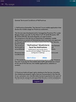 Apple iPad Air iOS 10 - Applications - MyProximus - Step 11