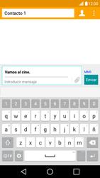 LG K10 4G - Mensajería - Escribir y enviar un mensaje multimedia - Paso 12