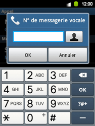 Samsung S5360 Galaxy Y - Messagerie vocale - Configuration manuelle - Étape 6