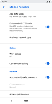 Google Pixel 3 - Network - Usage across the border - Step 7