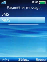 Sony Ericsson W100i Spiro - Mms - Configuration manuelle - Étape 5