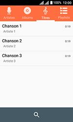 Alcatel U3 - Photos, vidéos, musique - Ecouter de la musique - Étape 6