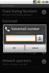 Samsung I5700 Galaxy Spica - Voicemail - Manual configuration - Step 6