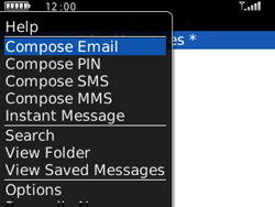 BlackBerry 8520 Curve - E-mail - Sending emails - Step 5