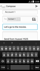 Huawei Ascend Y625 - Email - Sending an email message - Step 9
