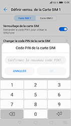 Honor 6A - Sécuriser votre mobile - Personnaliser le code PIN de votre carte SIM - Étape 12